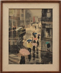 umbrellas dancing in the rain by ralph hillyer avery