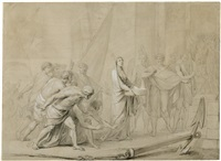 die vestalin tuccia mit dem sieb by friedrich heinrich füger