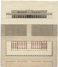 fassade und grundriss eines italienischen palazzo (architectural design) by giacomo quarenghi