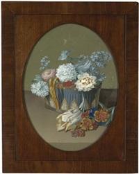 sommerblumen in einer klassizistischen jardiniere by johann samuel arnhold