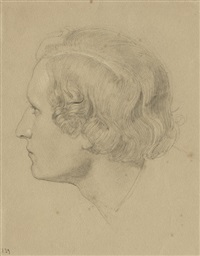 bildnis eines jungen mannes im profil nach links by carl gottlieb peschel