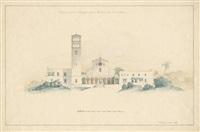 evangelische kirche in jerusalem im stil der italienischen frührenaissance (design for a church in jerusalem) by carl hesse