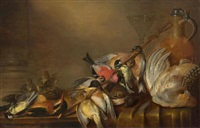 hunting still life with birds by alexander adriaenssen