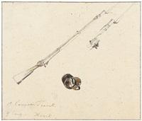 zaumzeug und bajonette: zwei studienblätter (2 works) by joseph heicke