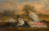 badende mädchen by marie-abraham rosalbin de buncey