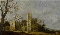 landschaft mit ruinen by charles cornelisz de hooch