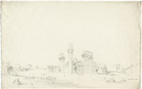 tempelruine bei luxor (+ 2 others; 3 works) by charles pierron