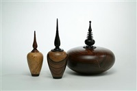 three turned bottles by barry macdonald