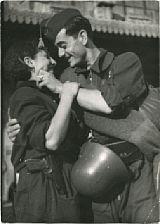 revolutionary troops saying goodbye by robert capa