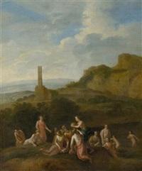 mythologische szene by cornelis van poelenburgh