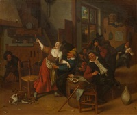 merry gathering at an inn by jan steen
