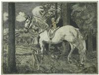 der junge dichter (page mit pferd) by hans thoma