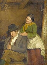 bauer und bäuerin in der stube by cesare maccari