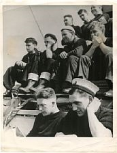 11 photographs of scottish and american troops on their way to algier by robert capa
