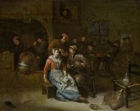 interieurszene in einer schenke by egbert van heemskerck the elder