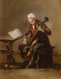 cellist by léonard saurfelt