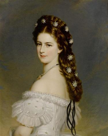 potrait der elizabeth königin von österreich by franz xaver winterhalter