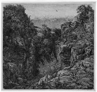 felsige landschaft (+ 3 others; 4 works) by dirk van gelder