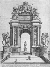 arco trionfale fatto erigere dal senato e popolo romano alle glorie santità di n.s. papa clemente x by carlo rainaldi