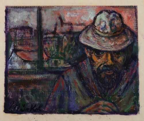 Mann Mit Hut Vor Dem Fenster Von Otto Nuckel Auf Artnet
