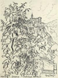 locarno, madonna del sasso; castell gandolfo, albaner berge (2 works) by fritz bleyl