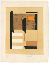 geschichtskreise titel, textblatt von louis aragon zu jeder graphik, sieben by alexander camaro