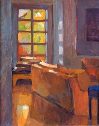 upstairs hall, summer light (+ 2 others, smllr; 3 works) by meredith brooks abbott