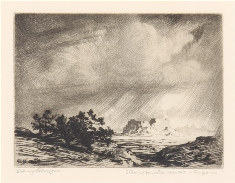 arizona storm storm in the painted desert arizona 2 works by george elbert burr