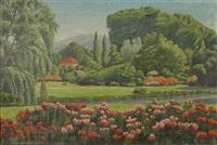 flower garden by charles westly nicholson