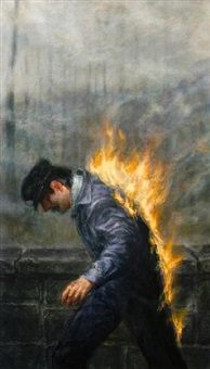 man on fire by thomas woodruff