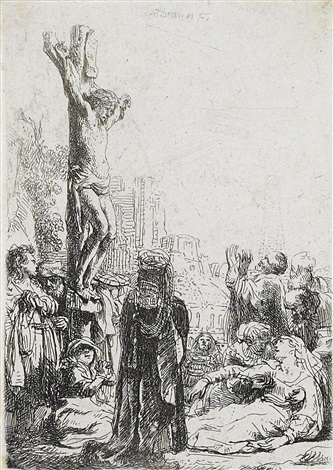the crucifixion by rembrandt van rijn