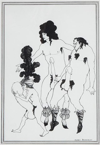 cinesias soliciting myrrhina 5 others 6 works from aristophanes lysistrata by aubrey vincent beardsley