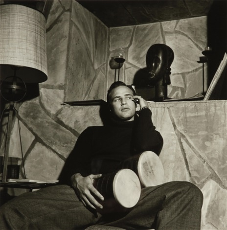 marlon brando at home by sid avery