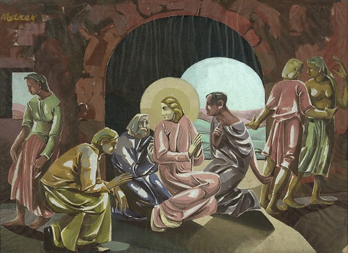 jesus im kreise seiner jünger von moritz melzer auf artnet