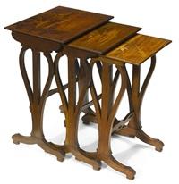 nesting tables (set of 3) by émile gallé
