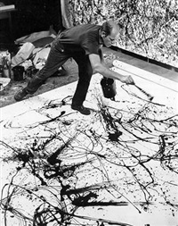 jackson pollock painting by hans namuth