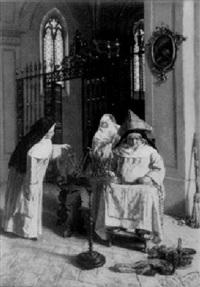die beim wollewickeln eingenickte nonne by j. vezzani