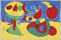 ohne titel (8 works) by joan miró