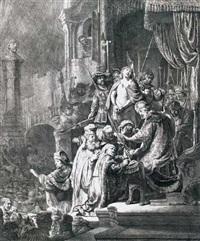christus vor pilatus (ecce homo) by rembrandt van rijn