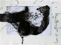 komposition (from un vase de terre) by antoni tàpies