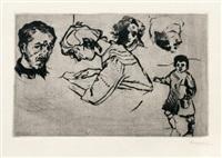 quattro ritratti e un bambino by umberto boccioni