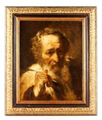 portrait of an artist by frank duveneck