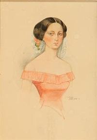 portrait of a young lady by vladimir ivanovich hau