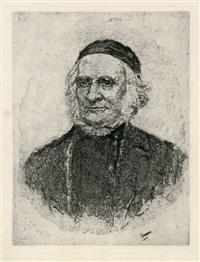 vieillard (portrait de frise) by james ensor