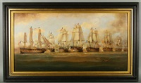 battle of trafalgar, victory breaking the french line by brian coole