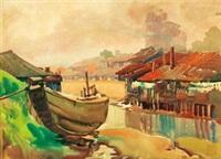 基隆河畔 by ma baishui