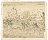 scenes of flood relief and prevention (11 works) by tang dai