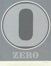 zero (from numbers) by robert indiana