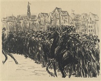 menschenmenge in amsterdam by max liebermann