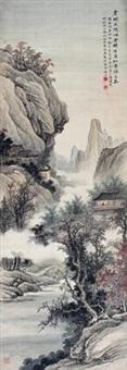 红叶春胜图 (landscape) by ma dai